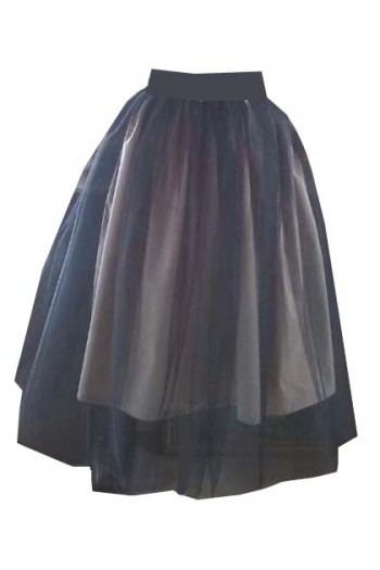 HARAH DESIGNS THREE STEP NUDE AND BLACK TULLE SKIRT